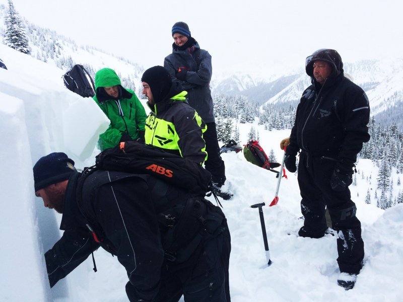 Snowmobile Avalanche Skills Training Courses in Golden, BC